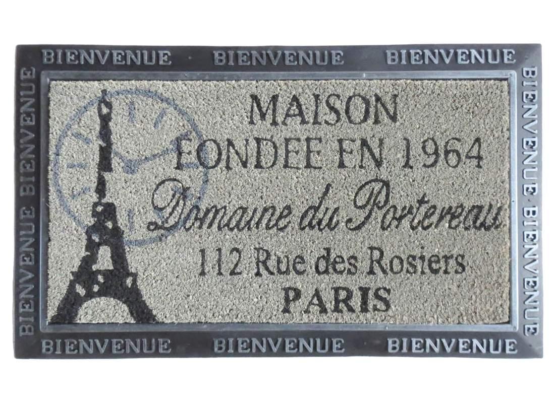 Felpudo goma y coco París