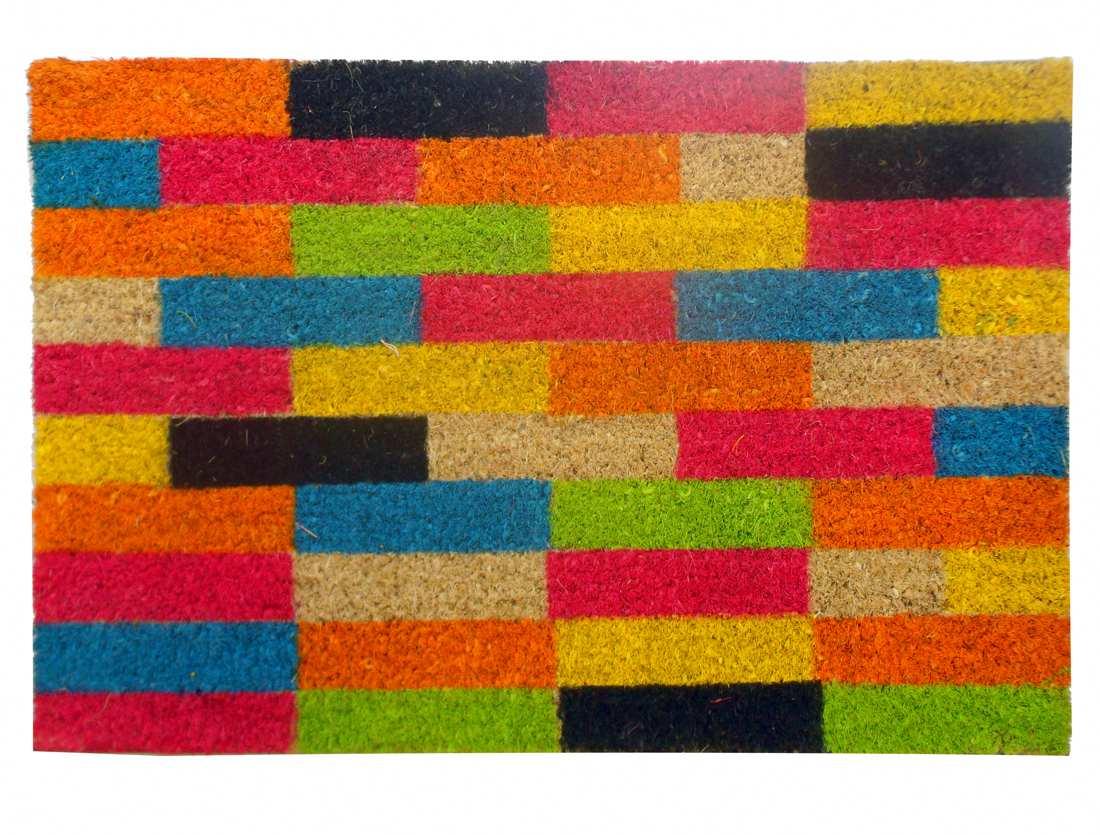 Felpudo estampado de colores