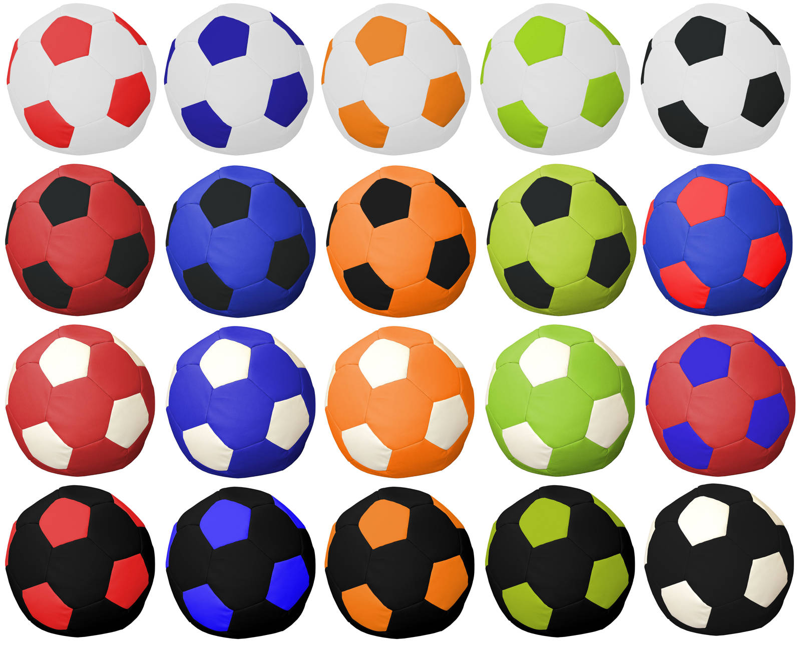 Colores puffs balón