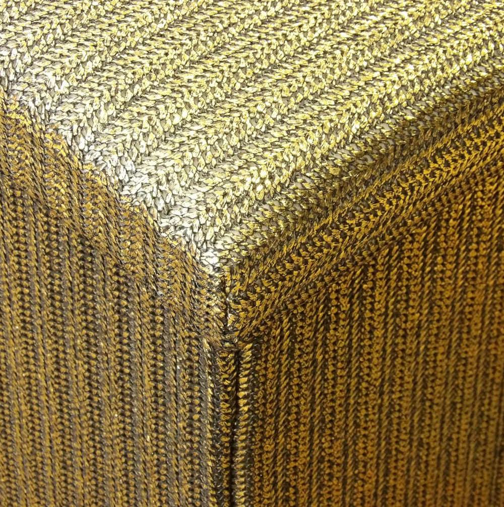 Textura del puff arcón Gold