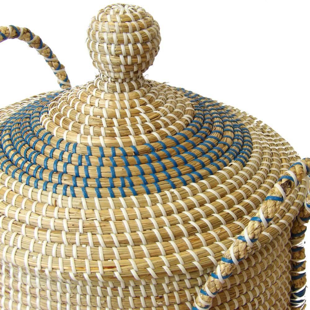 Gran cesta pongotodo de mimbre