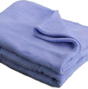 Manta azul de sofá