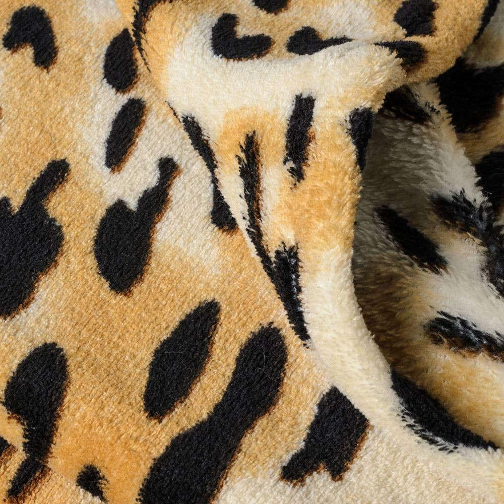 Manta estampada con leopardo