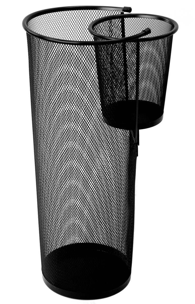Paragüero con compartimento paraguas plegables