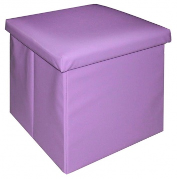 Puff arcón lila
