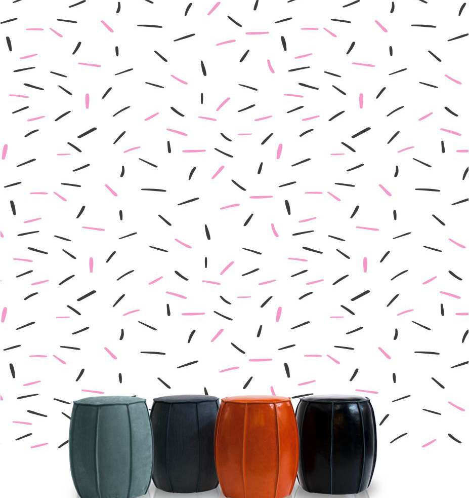 Vinilo de pared con colores claros