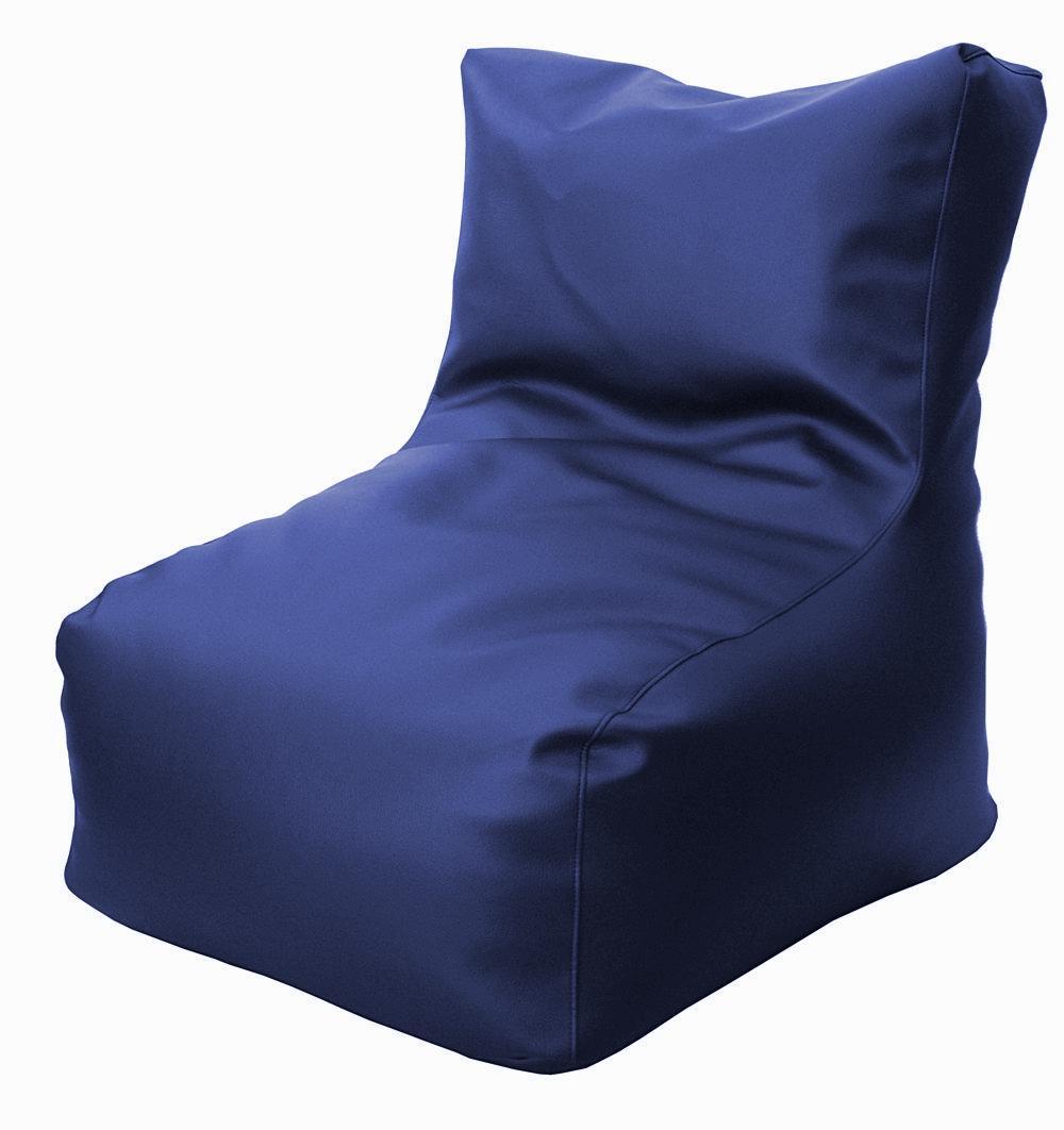 Puff con respaldo azul