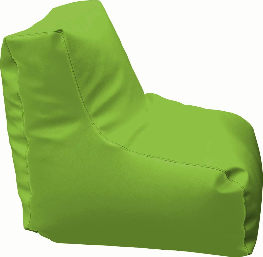 Puff con respaldo verde