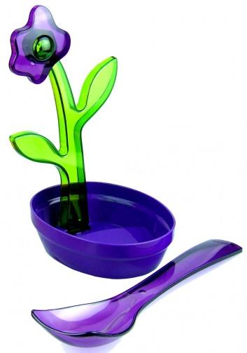 Soporte de cucharas violeta