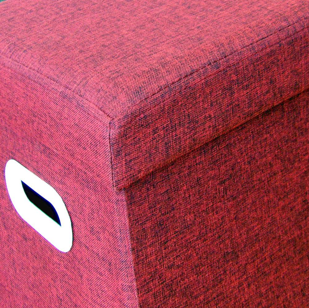 Puff con baúl rojo