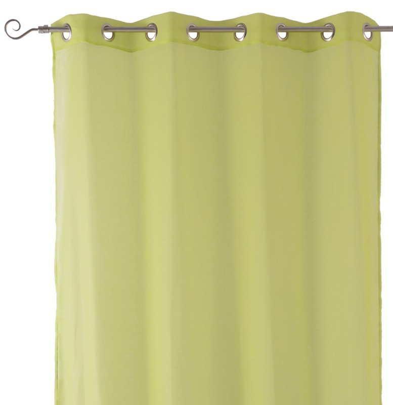 Visillo fino verde claro