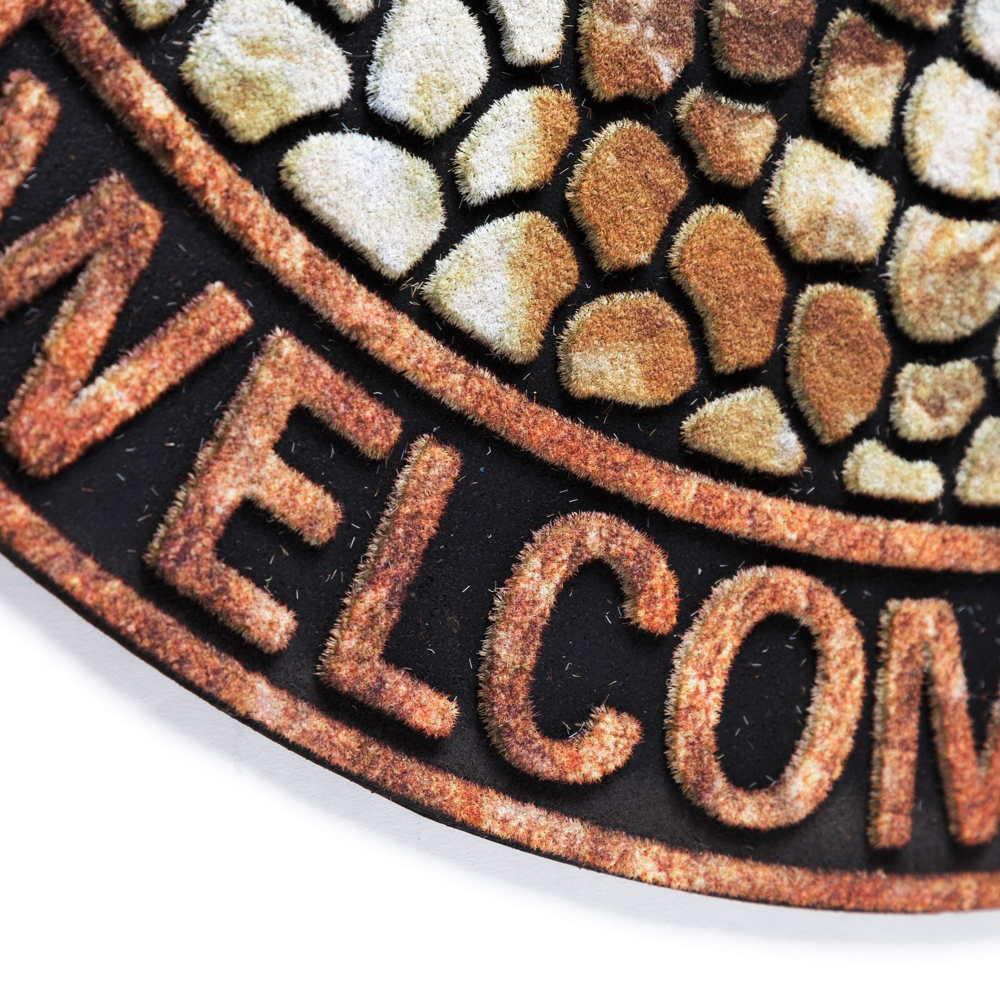 Felpudo semicircular Welcome