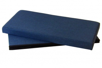 Puff azul plegable