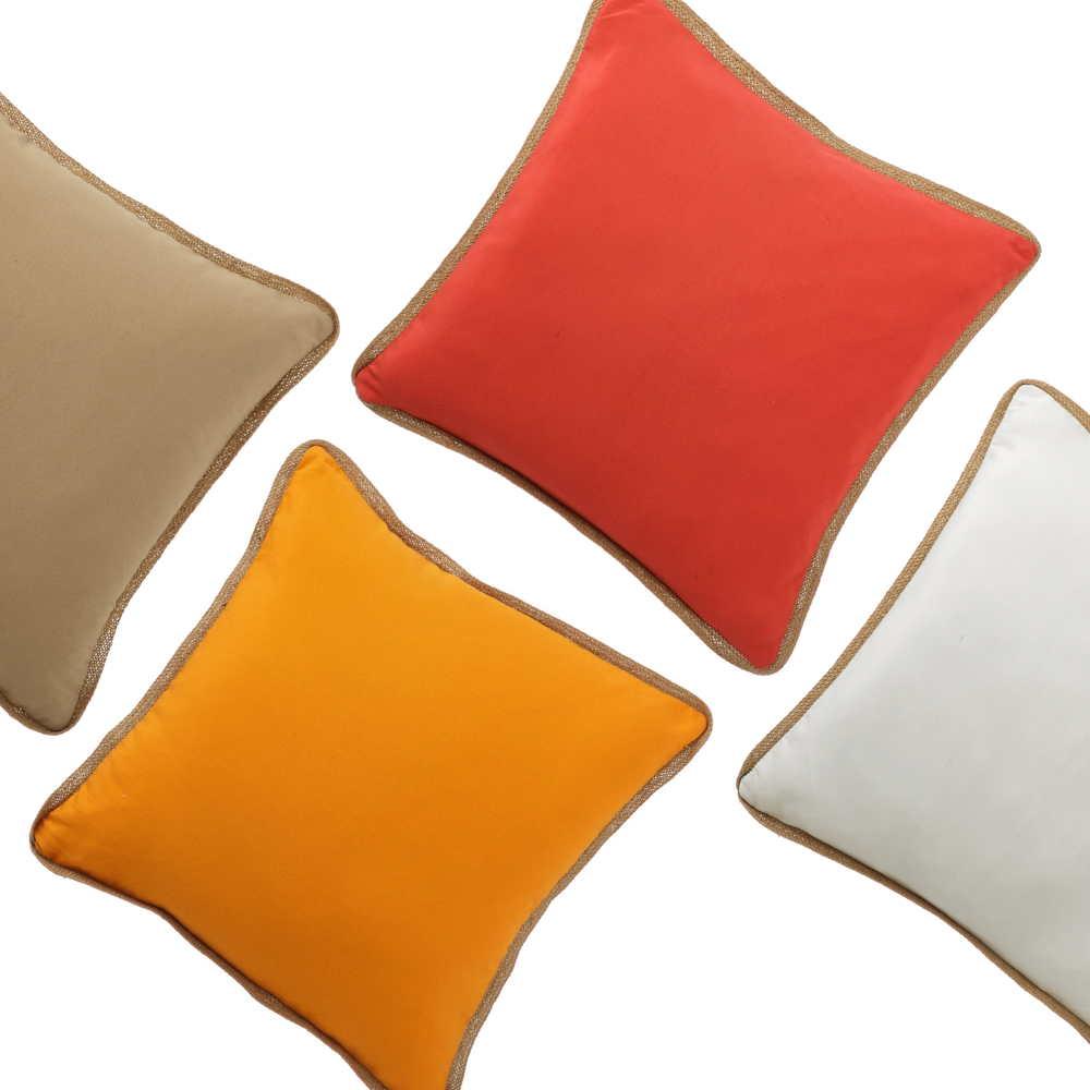 Cojines lisos de colores