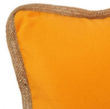 Cojín de 60 cm color liso mostaza