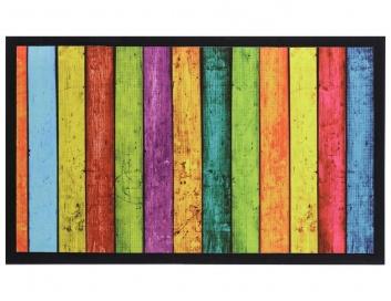 Felpudo multicolor estampado