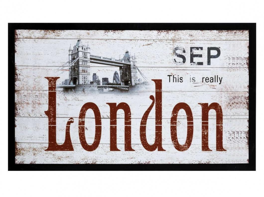 Felpudo estampado Londres