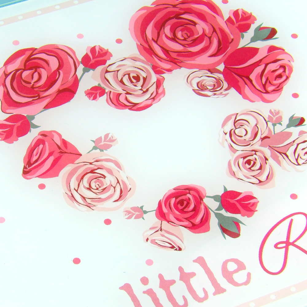 Bajoplato con rosas