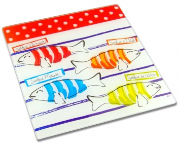 Bajoplato cocina con peces