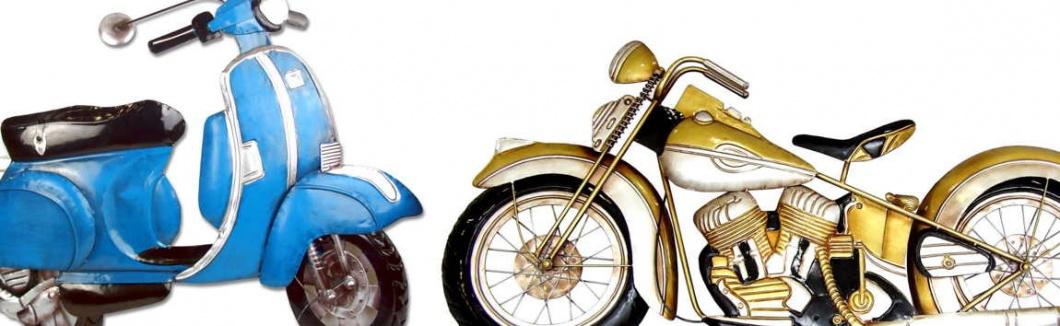 Apliques decorativos en forma de moto