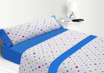 Juego infantil de sábanas azul