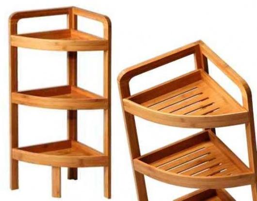 Rinconera de baño de bambú