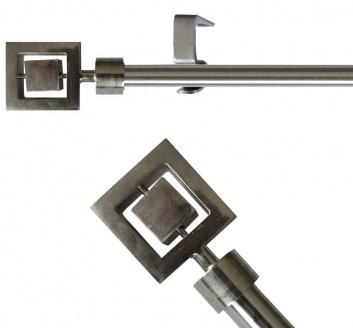 Barra extensible de cortinas acabado metal