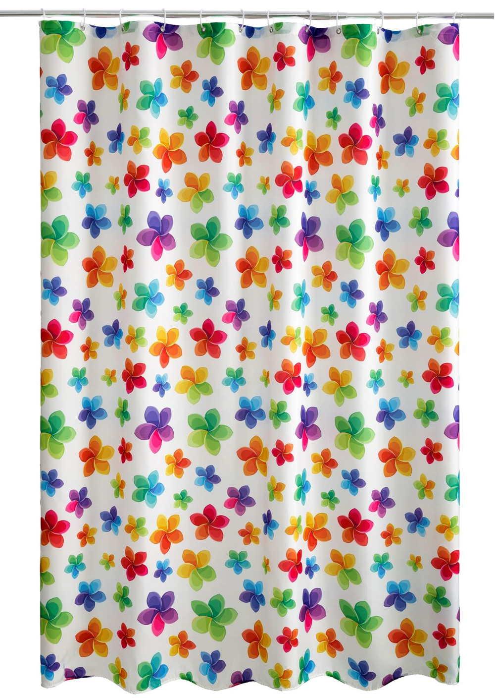 Cortina de ducha con flores