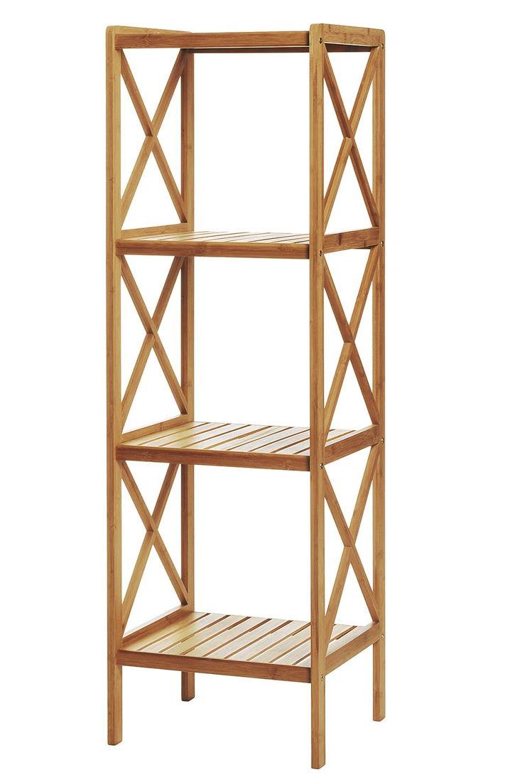 Estantería de bambú de tres estantes