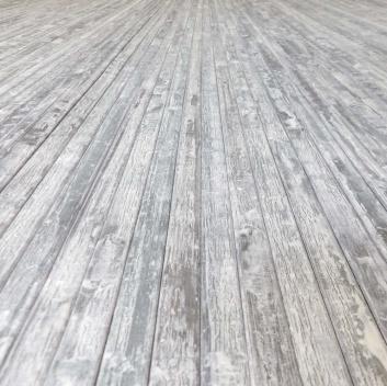 Alfombra de bambú con acabado irregular