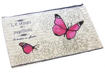 Alfombra estampada con mariposas