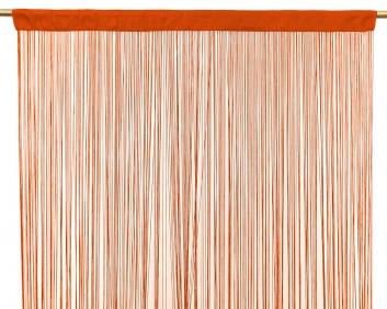 Cortina de hilos naranja