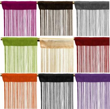Cortinas de hilos multicolor