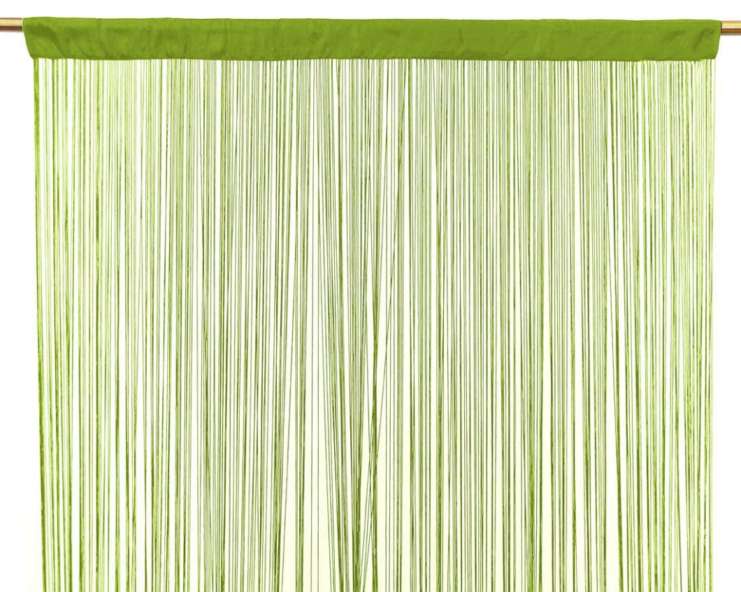 Cortina de flecos pistacho