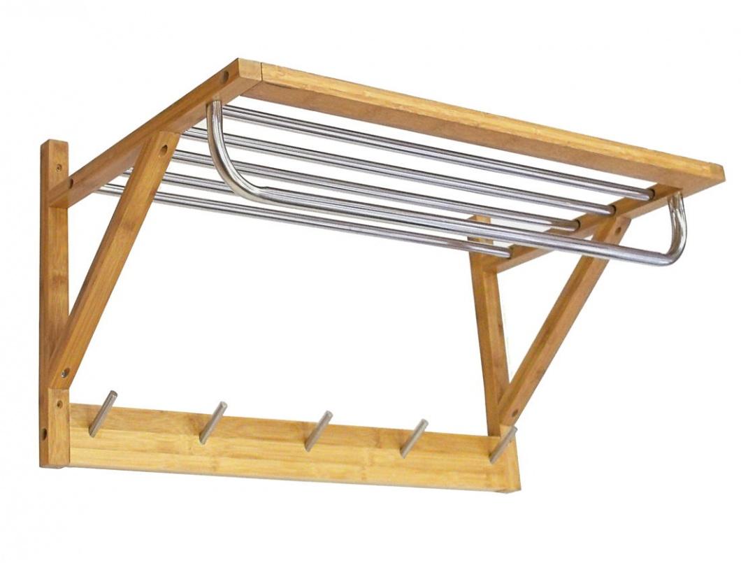 Toallero de madera de bambú