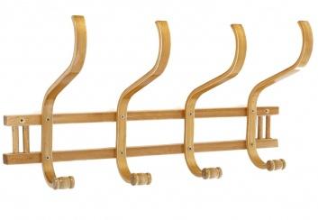 Perchero de ocho brazos madera natural