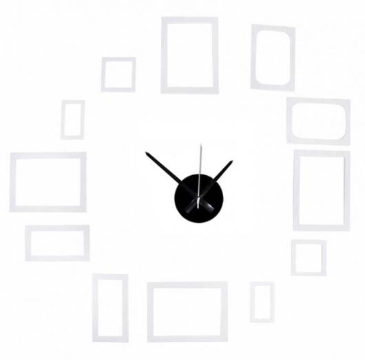 Reloj autoadhesivo con portafotos