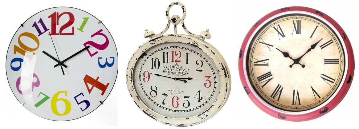 Relojes de pared de salón y cocina