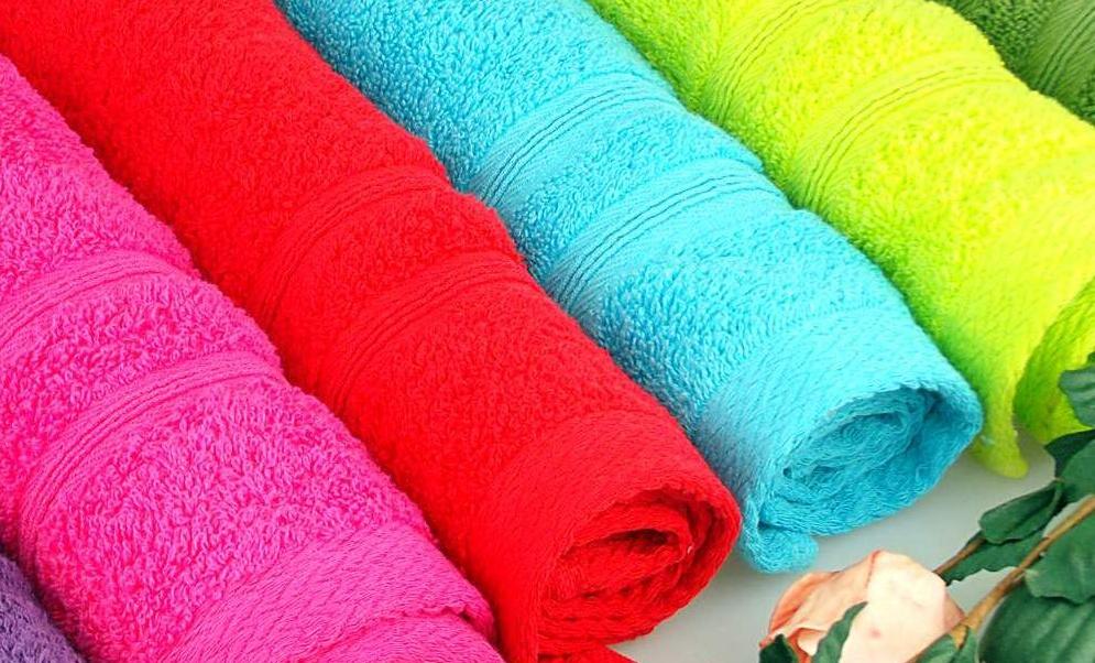 Toallas de muchos colores