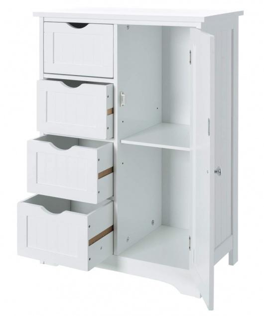 Mueble auxiliar con cajones y estantes