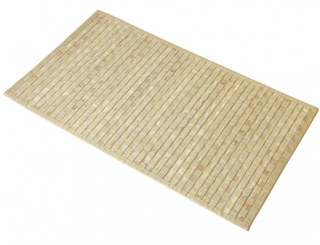 Alfombrilla bambú beige