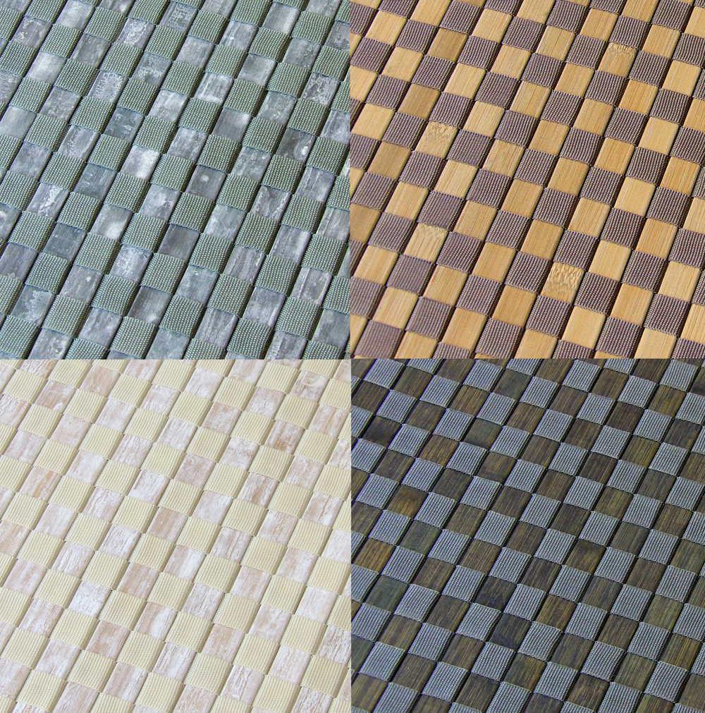 Colores de las esteras de bambú