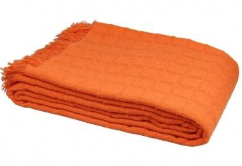 Colcha multiusos de algodón naranja