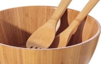 Bol ensaladera de madera