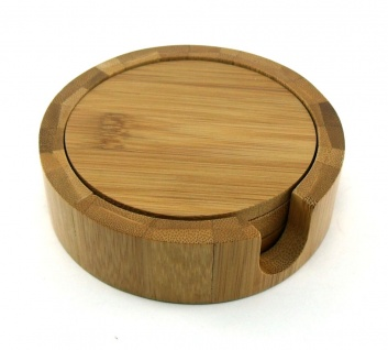 Posavasos redondos de madera