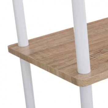 Estantería de madera y metal