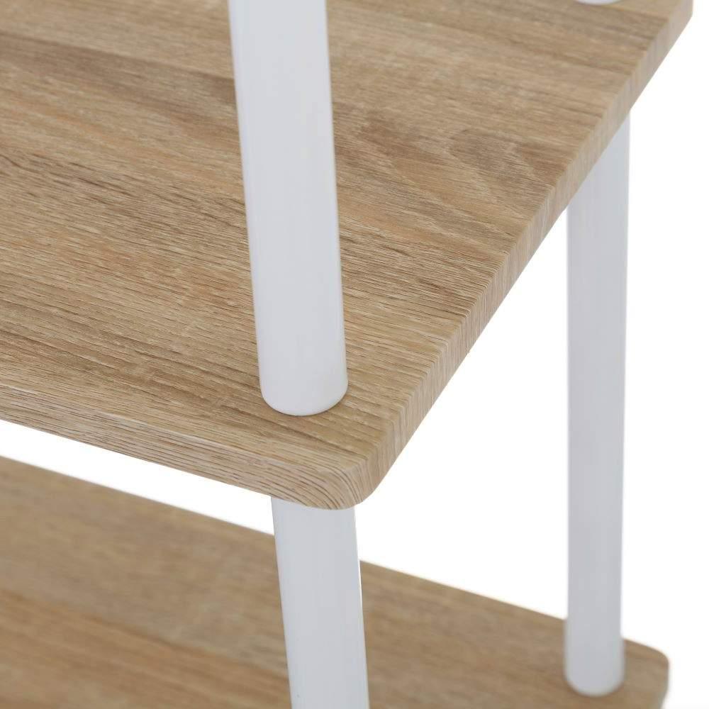 Estantería portátil de metal y madera