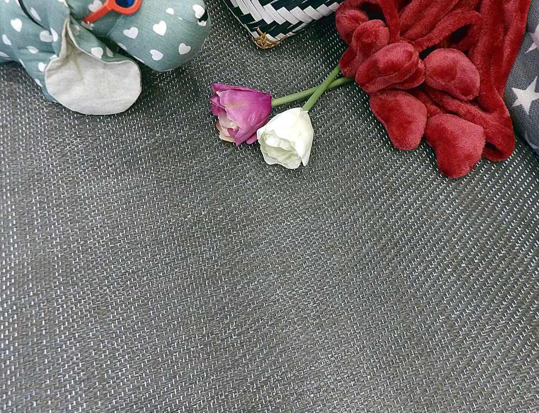 Alfombra lavable de PVC gris