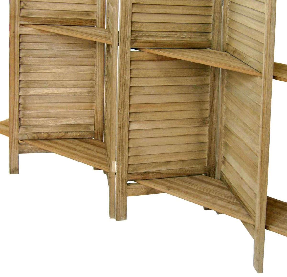 Biombo rústico con estantes
