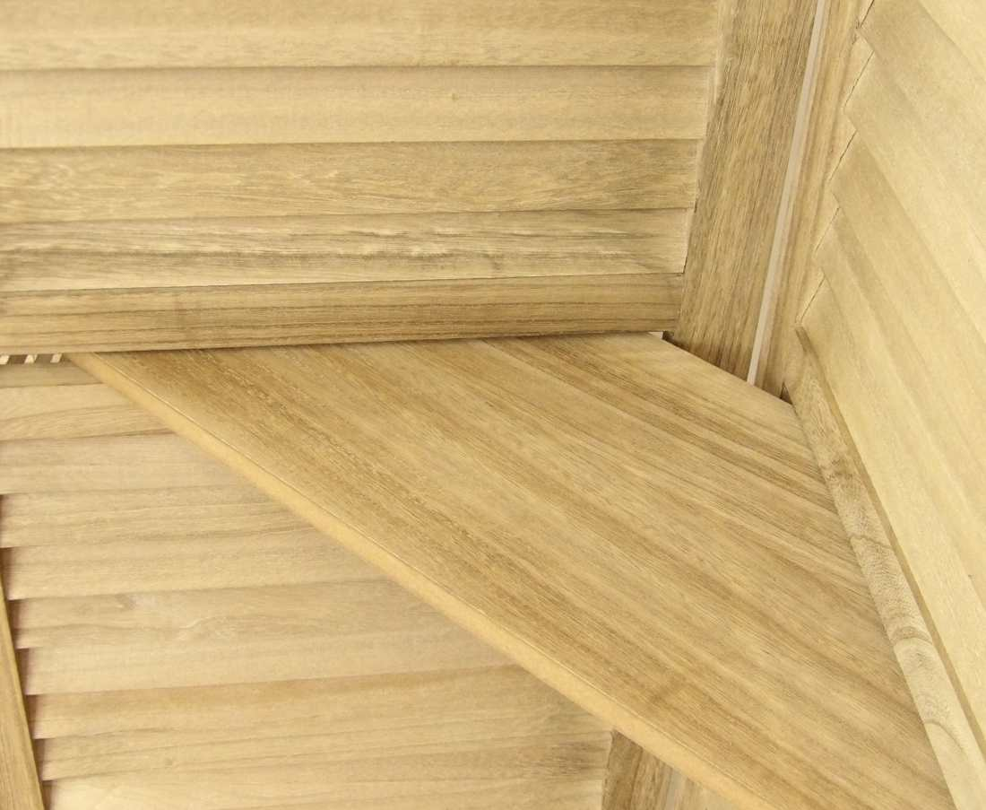 Estantería biombo de madera